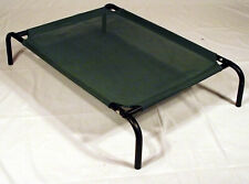 Coolaroo Steel-Framed Elevated Dog Bed, Small, Green