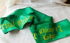 Vtg St. Patricks Day Parade Sash Fop Chicago Police Lodge # 7 W/ K Of C Pins !