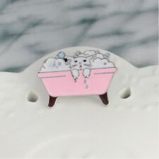 Alloy Kids Gift Bathtub Cat Badge Enamel Brooch Fashion Jewelry Pin