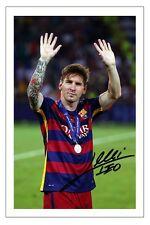 LIONEL MESSI FC BARCELONA SIGNED PHOTO PRINT SOCCER