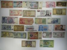 Mixed Lot of 25 Different Foreign Banknotes World Paper Money Collections & Lots