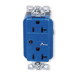 HUBBELL WIRING DEVICE-KELLEMS HBL5360SA Receptacle,Deco,20A,5-20R,125V,Blue