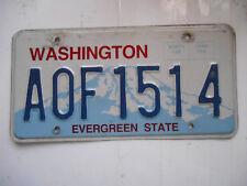 plaque immatriculation  usa washington license plate old americaine 1514