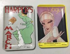 Vintage Hard Plastic Small Plates Vogue Magazine Harper's Made in ITALY