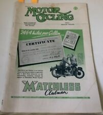 Motor Cycling March 23,1950 Matchless Clubman, Vertical Twin Engines