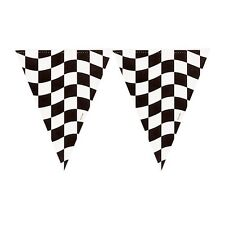 RACE CAR CHECKERED CHEQUERED FLAG BANNER HANGING PARTY DECORATION RACING BUNTING
