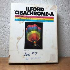 Ilford Cibachrome-A Dy Filter Box. For Color Prints.