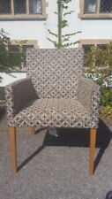 A Contemporary Art Deco Style Tub Armchair/Feature Chair with Bold Funky Fabric