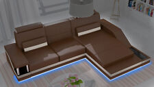 Ecksofa Sofa Couch Polster Wohnlandschaft Leder Eck Sofas Garnitur L Form HHVI