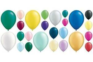 "10  Qualatex Pearl/Metallic 11""  Helium / Air Latex  Balloons Decorations Party"