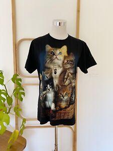 Rock Chang Cat T-Shirt with diamanté eyes- mens size S