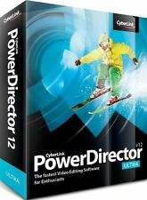 CyberLink Power Director Ultra v.12 - Video Creator Editing Software PC NEW