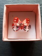 New childs red butterfly cute handmade ring UK size J.5! Childrens jewellery!