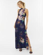 💖 New Monsoon Halterneck Maxi Evening Dress sz 16  Wedding/Coast/Party/Hols
