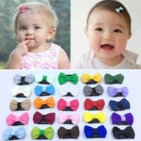 Newborn Baby Cute Flower Headwear Infant Mini Bow Hair Clips Hair Accessories UK