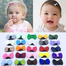 Newborn Baby Cute Flower Headwear Infant Mini Bow Hair Clips Color Random