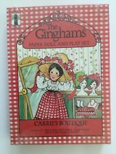 VINTAGE NEW SEALED THE GINGHAMS PAPER DOLL & PLAY SET USA CARRIE'S BOUTIQUE NIB