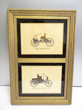Vintage Old Fords First Car 1896 First Packard 1899 Wood Framed Display Cards