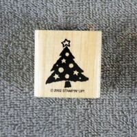 Stampin' Up! 2002 Christmas Tree Wood Rubber Stamp Holiday Season