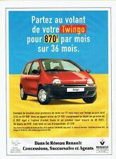 Publicité Advertising 320  1998   Réseau Renault   la Twingo