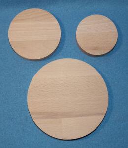 Runde Holzscheibe Buche Leimholz Platte 18mm 40 80 100 120 150 200 bis 590 mm