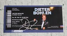 ORIGINAL Autogramm auf einem Ticket: DIETER BOHLEN. 100 % ECHT. MODERN TALKING