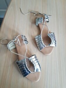 Silver ASOS strappy flat sandals