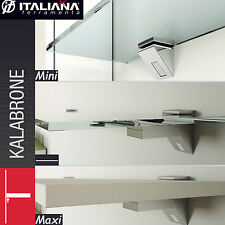 2 x Kalabrone Glass, Wood etc... Shelf Supports Clamp Brackets Fits 5-50mm thick