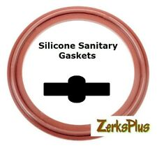 """Sanitary Gasket Tri Clamp Style 4"""" Silicone Red Price for 1 pc"""