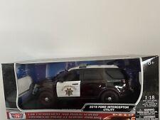 California Highway Patrol 1/18 Motormax Ford Police Interceptor Utility CHP
