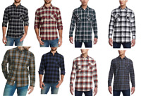 Weatherproof Vintage Men's Lightweight Plaid Flannel Long Sleeves Shirt