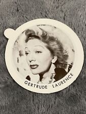 Vintage Dixie Cup Ice Cream Lid With Movie Stars ~ Gertrude Laurence