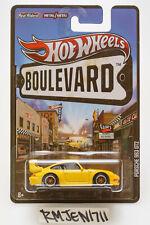 Hot Wheels 2013 Boulevard Premium yellow Porsche 993 GT2 *READ*