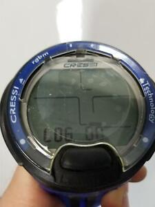 Cressi Leonardo Dive Computer Watch -Wrist (Black / Blue ) (Open box)