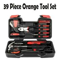 39-Piece Tool Set - General Household Hand Tool Kit with Plastic Toolbox Storage