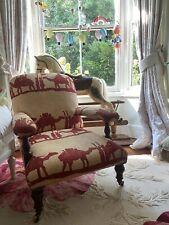 More details for antique victorian georgian nursing chair luxury designer andrew martin linen