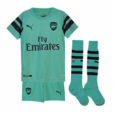 PUMA Arsenal 18 19 3rd Mini Kids Football Kit Green Top Sports Traininig 7e51f6d2c