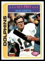 1978 Topps #120 Bob Griese HOF Miami Dolphins / Purdue Boilermakers