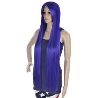 Women's Girls Long Straight Full Hair Wigs Halloween Fancy Dress Costume Cosplay