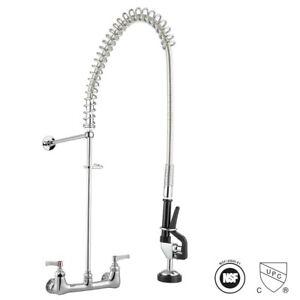 """Commercial Kitchen Faucet Restaurant 8"""" Center Prerinse Faucet CUPC NSF"""