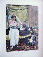 TUNISIE:Gravure 19°in folio couleur/ Danseuse Tunisienne