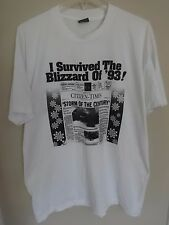"Vintage 1993 Asheville NC "" I Survived The Blizzard Of 93! "" T-Shirt Men XL USA"
