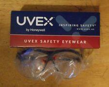 1 pair UVEX SAFETY EYE WEAR glasses GENESIS XC S3300 black frame clear lens