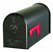 Gibraltar Elite Medium Capacity Galvanized Steel Black Post-Mount Mailbox,...