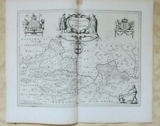 Blaeu, Map of Berkshire, 17th century, uncoloured, text in Dutch to back