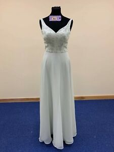 BNWT Richard Designs  bridesmaid/prom dress size 8 sage green style 1068 chiffon