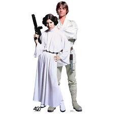 LUKE SKYWALKER & PRINCESS LEIA Star Wars CARDBOARD CUTOUT Standup Standee Poster