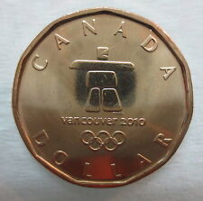 2010 VANCOUVER WINTER OLYMPICS INUKSHUK LOONIE BRILLIANT UNCIRCULATED COIN