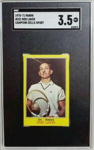 1970 Panini Campioni Dello Sport #331 Rod Laver Rookie Card RC SGC 3.5 VG+ (B)