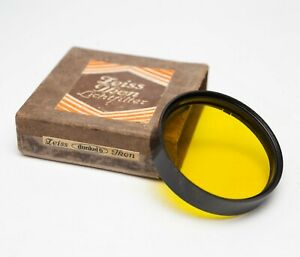 EX! Zeiss Ikon Dunkel 6 Dark Yellow Filter A42 Slip On 42mm w/Box